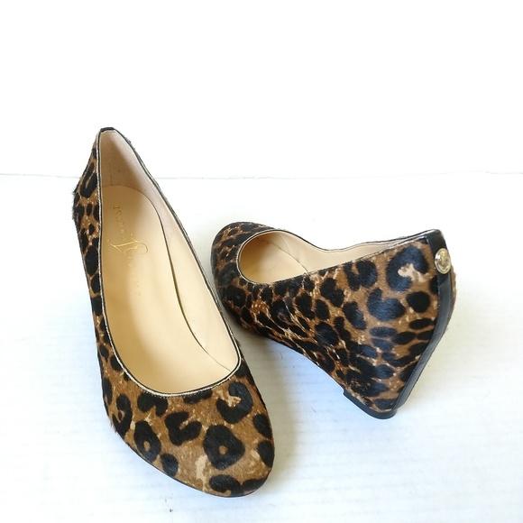 Ivanka Trump Shoes - NEW Ivanka Trump leopard wedge pumps leather